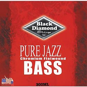 Black Diamond Pure Jazz Bass Guitar Chromium Flat Wound Strings