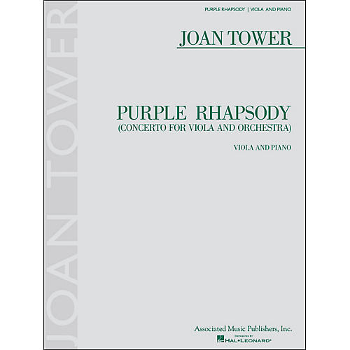 G. Schirmer Purple Rhapsody (Concerto for Viola And Orchestra) for Viola And Piano By Tower