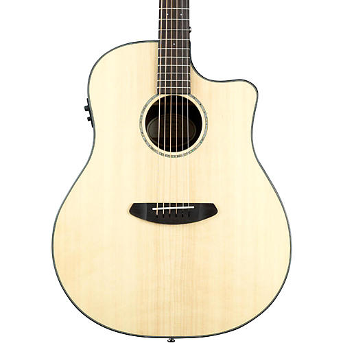 Breedlove Pursuit Dreadnought Ebony Acoustic-Electric Guitar Natural