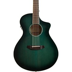 Pursuit Series Concert CE Trans Lagoon Burst Engelmann Spruce - Maple Acoustic-Electric Guitar Transparent Blue