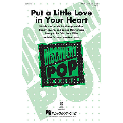 Hal Leonard Put a Little Love in Your Heart (Discovery Level 2) VoiceTrax CD Arranged by Cristi Cary Miller