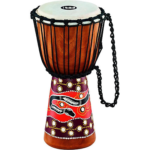 Meinl Python Series Rope Tuned Mahogany Djembe 8 in.-thumbnail