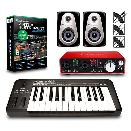 Alesis Q25 25-Key MIDI Keyboard Controller Packages  Advanced Virtual Instrument Package
