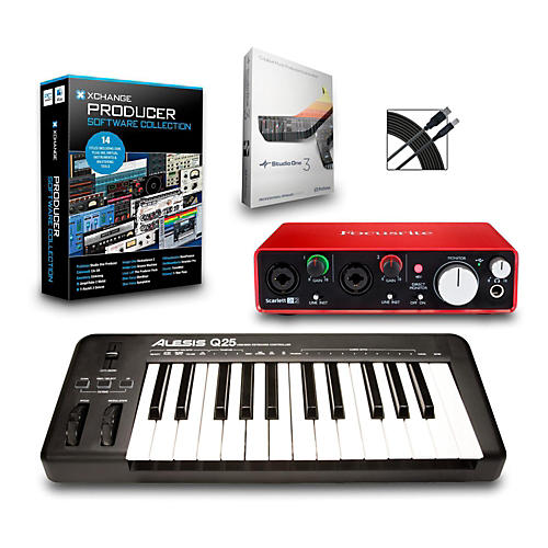 Alesis Q25 25-Key MIDI Keyboard Controller Packages  Intermediate Production Package