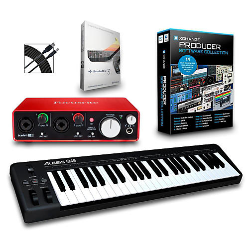 Alesis Q49 49-Key MIDI Keyboard Controller Packages-thumbnail