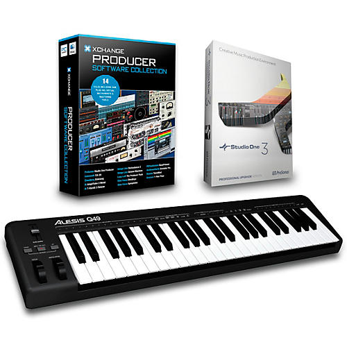 Alesis Q49 49-Key MIDI Keyboard Controller Packages  Production Package