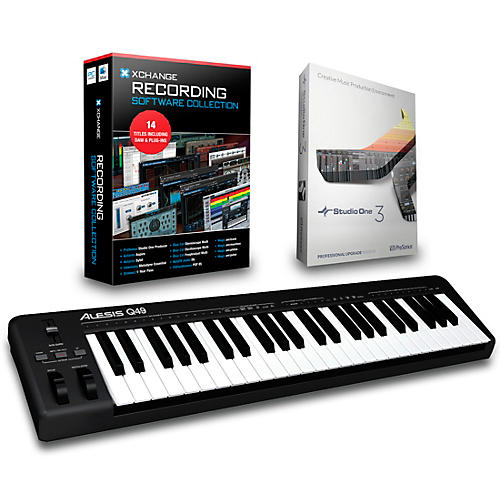 Alesis Q49 49-Key MIDI Keyboard Controller Packages  Recording Package