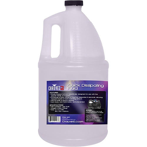 Chauvet Professional QDF Quick Dissipating Fog Machine Fluid - 1 Gallon