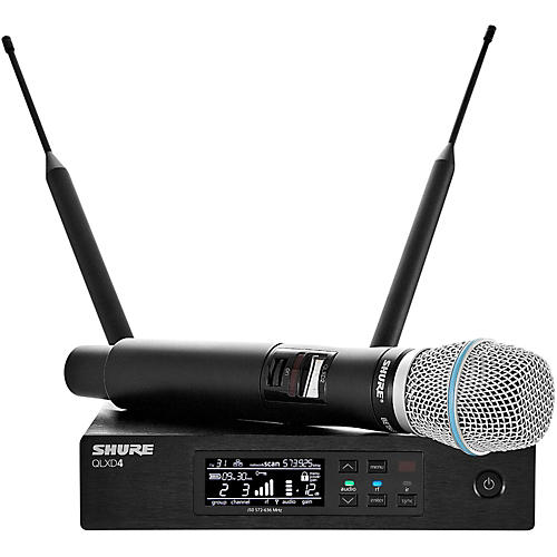 Shure QLX-D Digital Wireless System with Beta 87A Condenser Microphone Band X52