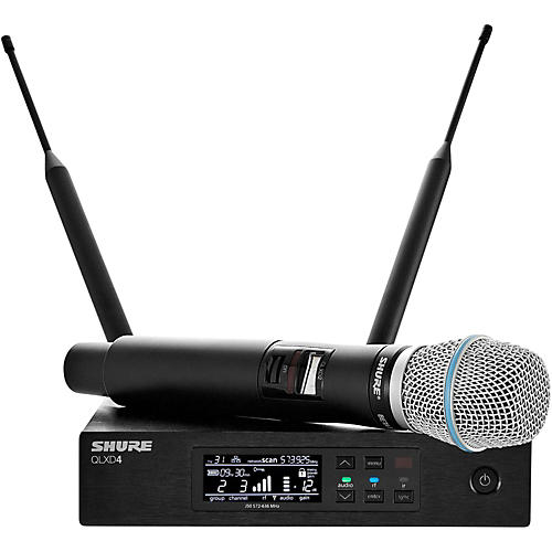 Shure QLX-D Digital Wireless System with Beta 87A Condenser Microphone-thumbnail