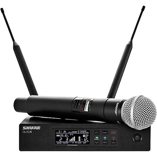 Shure QLX-D Digital Wireless System with SM58 Dynamic Microphone-thumbnail