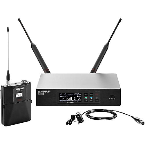 Shure QLX-D Digital Wireless System with WL184 Supercardioid Lavalier