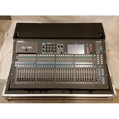 Allen & Heath QU32 With GLD AR2412 Snake, Case, & Ethernet Cable Digital Mixer-thumbnail