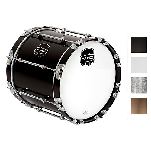 Mapex Quantum Bass Drum 16 x 14 in. Gloss Black/Gloss Chrome Hardware