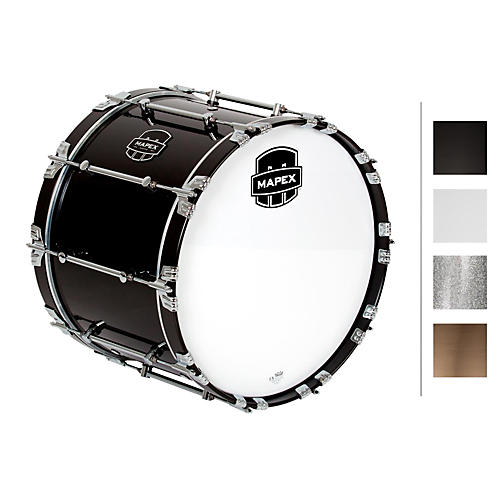 Mapex Quantum Bass Drum 20 x 14 in. Silver Diamond/Gloss Chrome