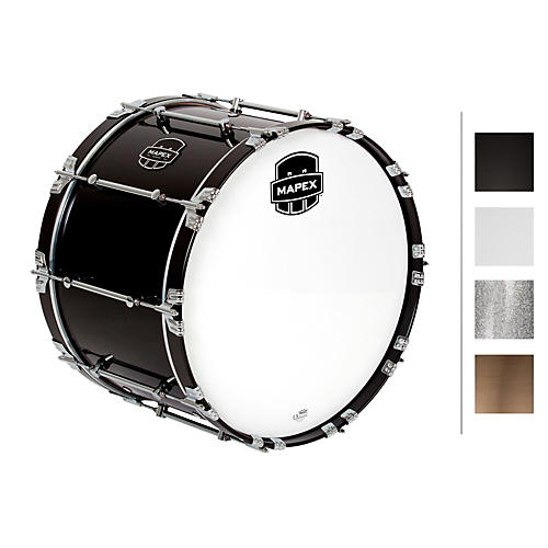 Mapex Quantum Bass Drum 22 x 14 in. Grey Steel/Gloss Chrome Hardware