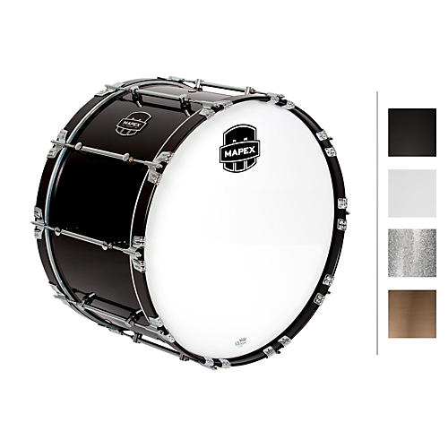 Mapex Quantum Bass Drum 24 x 14 in. Silver Diamond/Gloss Chrome-thumbnail