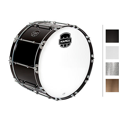 Mapex Quantum Bass Drum 26 x 14 in. Gloss Black/Gloss Chrome Hardware-thumbnail