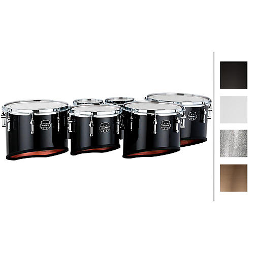 Mapex Quantum Marching Tenor Drums Sextet 6, 6, 8, 10, 12, 13 in. Snow White