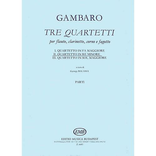 Editio Musica Budapest Quartet in D Minor for Flute, Clarinet, Horn, Bassoon EMB Series Composed by Giovanni Battista Gambaro