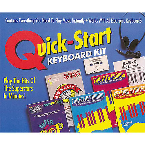Hal Leonard Quick-Start Keyboard Kit Includes Cassette (Book and Cassette Package)