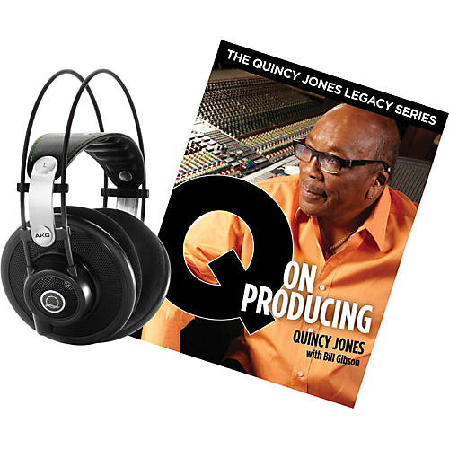 AKG Quincy Jones Q701 Headphones with Q on Producing Book