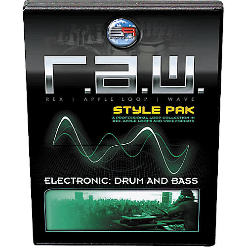 Sonic Reality R.A.W. Style Pak - Electronic: Drum and Bass Loops Collection Software-thumbnail