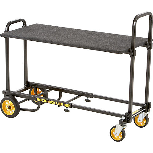 Rock N Roller R2 Micro Cart with Carpeted Shelf