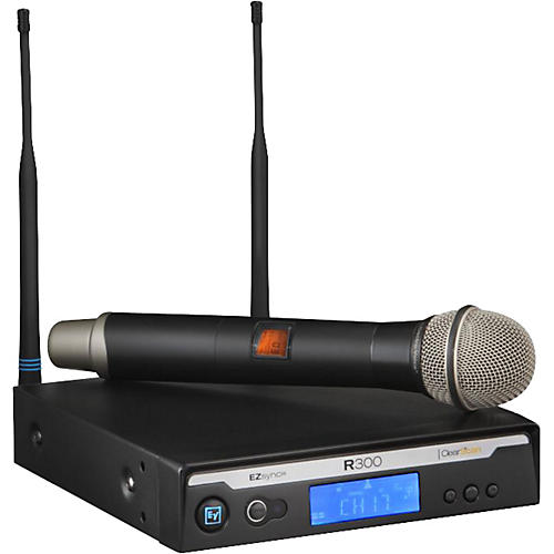 Electro-Voice R300 Handheld Wireless System in Case Band A
