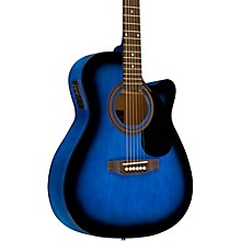RA-090 Concert Cutaway Acoustic-Electric Guitar Blue Burst
