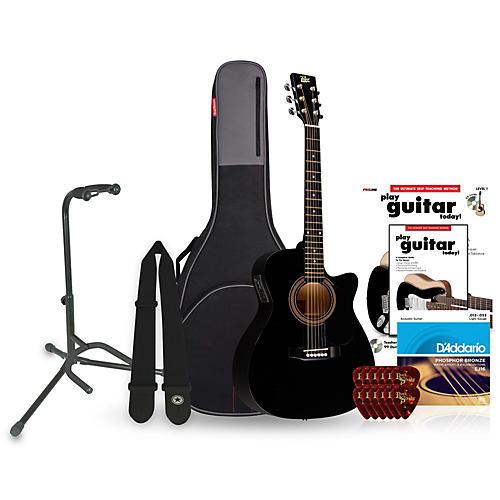 Rogue RA-090 Concert Cutaway Acoustic-Electric Guitar Bundle