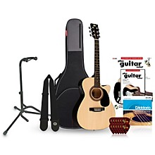 RA-090 Concert Cutaway Acoustic-Electric Guitar Bundle Natural