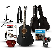 RA-090 Dreadnought Acoustic Guitar Deluxe Bundle Black