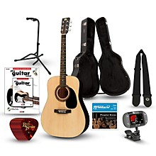 RA-090 Dreadnought Acoustic Guitar Deluxe Bundle Natural
