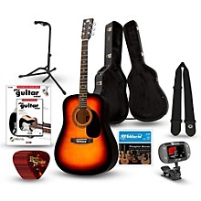 RA-090 Dreadnought Acoustic Guitar Deluxe Bundle Sunburst