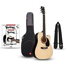 RA-090 Dreadnought Cutaway Acoustic-Electric Guitar Bundle Natural