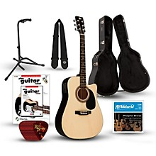Rogue RA-090 Dreadnought Cutaway Acoustic-Electric Guitar Deluxe Bundle