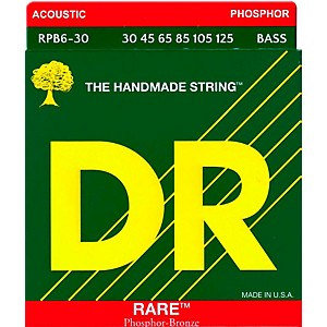 DR Strings RARE Phosphor Bronze 6 String Bass Strings Medium 30-125 by DR Strings