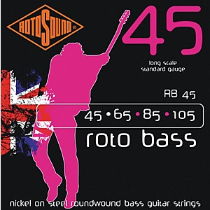 Rotosound RB45 Rotobass Nickel Roundwound Strings by Rotosound