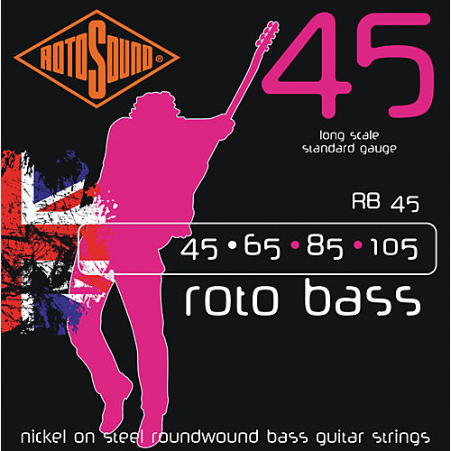 Rotosound RB45 Rotobass Nickel Roundwound Strings-thumbnail
