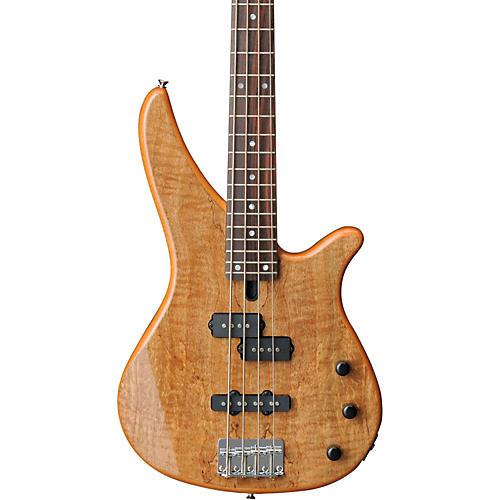 Yamaha RBX170EW Electric Bass Guitar with Exotic Mango Wood Top Natural