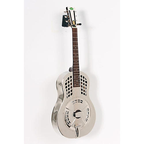 Regal RC-55 Nickel-Plated Body Tricone Guitar Nickel-plated, Bell Brass body 888365058757
