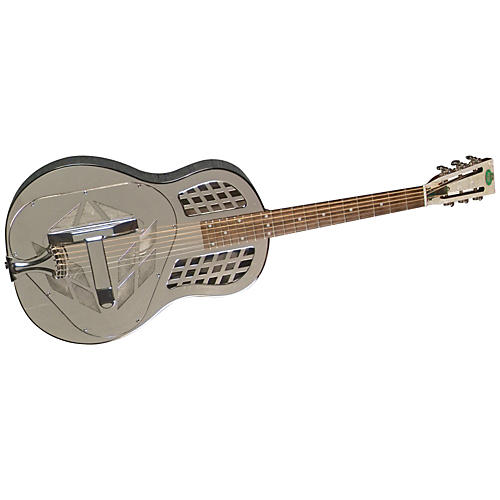 Regal RC-57 Nickel-Plated Body Tricone Guitar-thumbnail