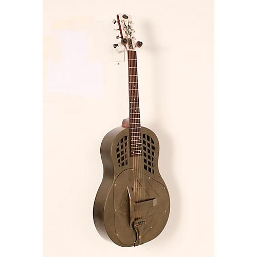 blemished regal rc 58 tricone metal body resonator guitar texas tea round neck 888366028636. Black Bedroom Furniture Sets. Home Design Ideas