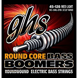 GHS RC-5MLDYB Round Core Boomers Medium/Light 5 String Electric Bass String... by GHS