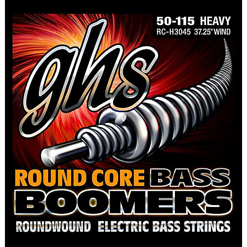 GHS RC-H3045 Round Core Boomers Heavy Electric Bass Strings (50-115)-thumbnail