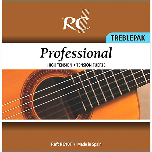 RC Strings RC10T Professional Treblepak - Hard Tension 1st, 2nd and 3rd strings for Nylon String Guitar