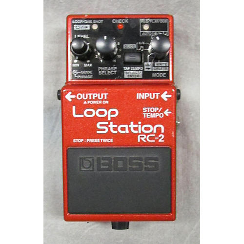 Boss RC2 Loop Station Red Pedal