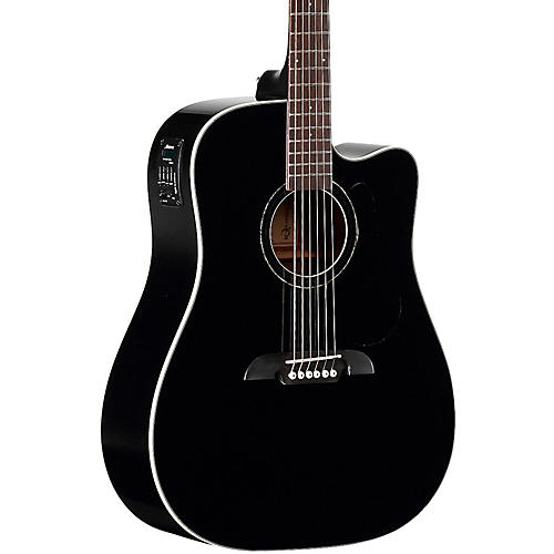 Alvarez RD260CEBK Dreadnought Acoustic-Electric Guitar-thumbnail