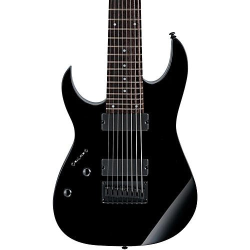 Ibanez RG 8-String Left-Handed Electric Guitar Black